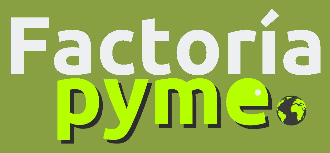 Logo FP texto Factoria en blanco - Reducido